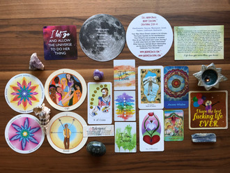MoonCoaching™ Astro.Tarot.Ology™ Message for Aquarius/Leo Full Moon August 15 to 19, 2019: