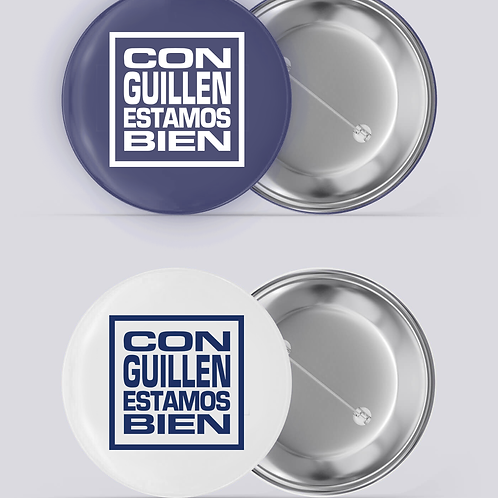 Con Guillen Estamos Bien Buttons 2 Pack