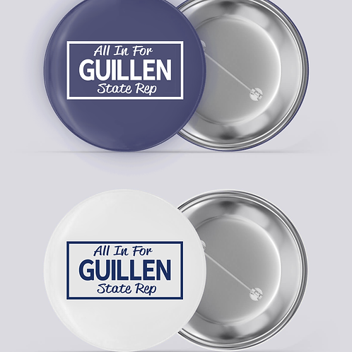 All in For Guillen Buttons 2 Pack