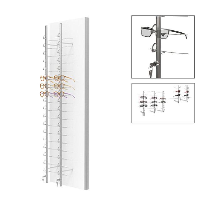 Présentoirs WP standards avec 4 colonnes sécurisées et tournantes RR.MC.18