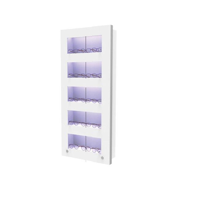 Présentoir WVS avec 5 étagères lockable, 15 montures