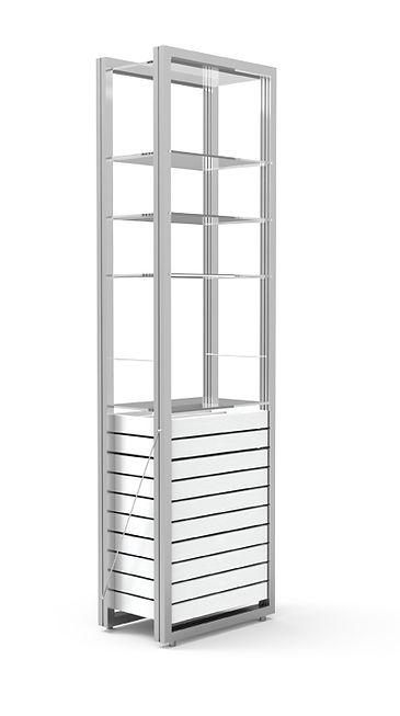 Armoire haute avec 10 tiroirs et 4 étagères