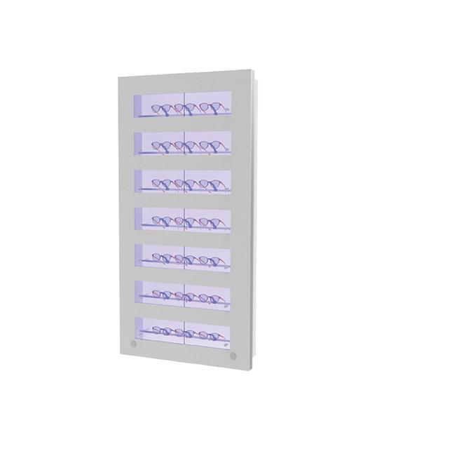 Présentoir WCL1 avec 7 ouvertures et 7 barres lockable, 21 montures