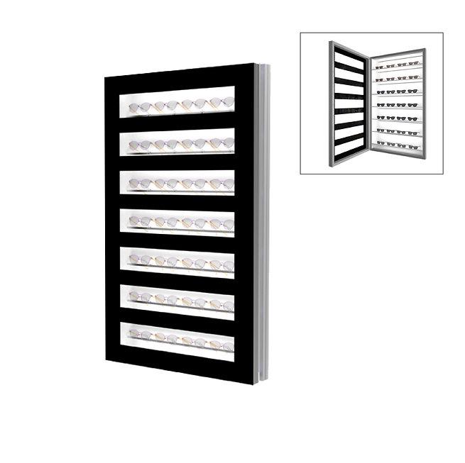Présentoir WD avec 7 étagères et 7 barres.