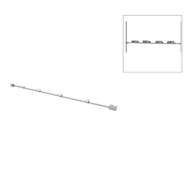 Colonne horizontal avec 4 supports de montures