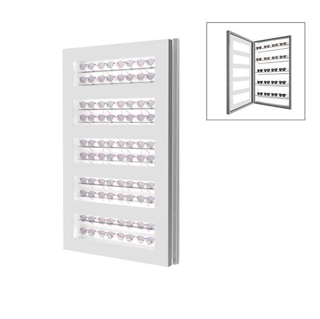 Présentoir WD avec 5 étagères et 10 barres.