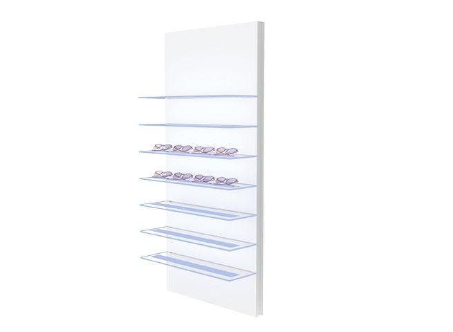 Présentoir avec 7 étagère VIVIDIA 14 montures avec éclairage inferieur