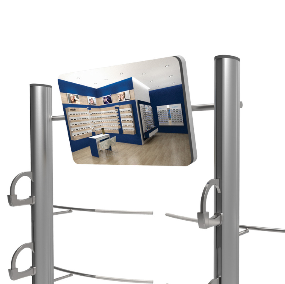 Miroir pour deux colonnes
