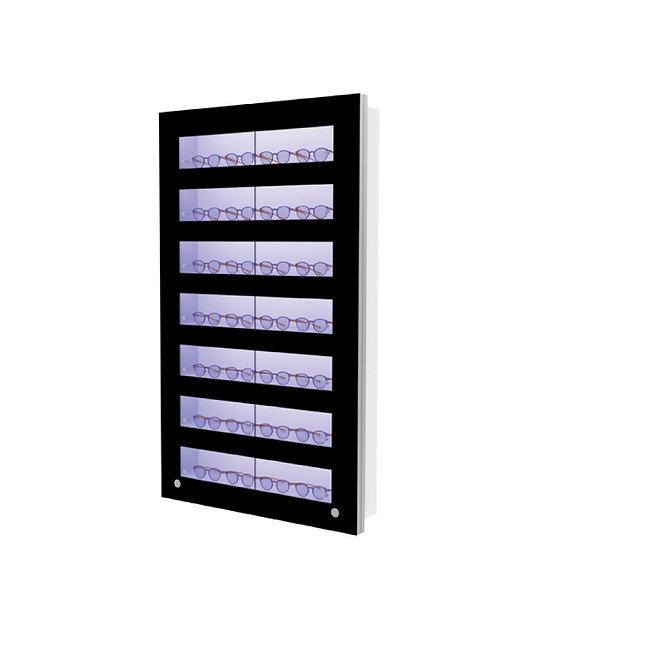 Présentoir WVS avec 7 étagères lockable, 28 montures