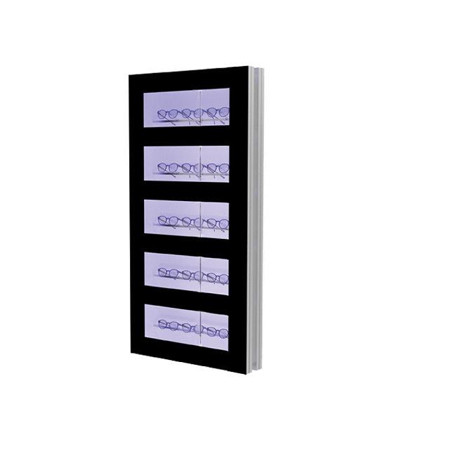 Présentoir WCL2 avec 5 ouvertures et 5 barres lockable, 15 montures