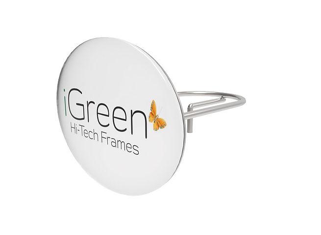 Support pour des logos elliptique