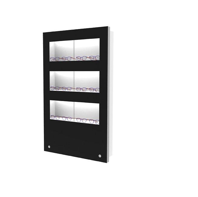 Présentoir WVS avec 3 étagères lockable, 12 montures