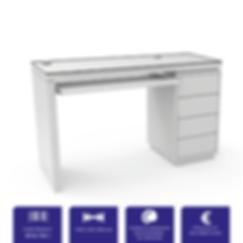 Table rectangle plateau en verre