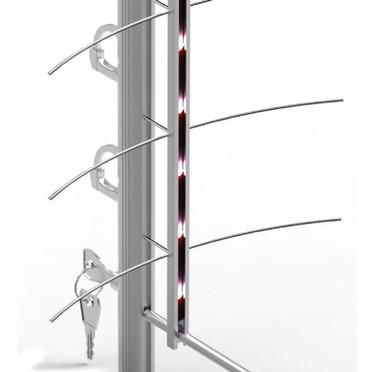 Eclairage LED ou blanc pour une colonnes