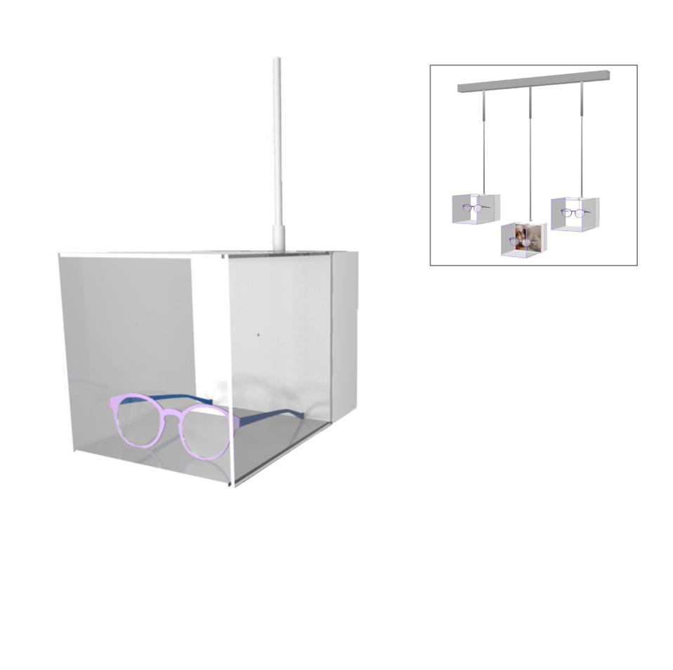 Boite lumineuse, avec éclairage LED blanc