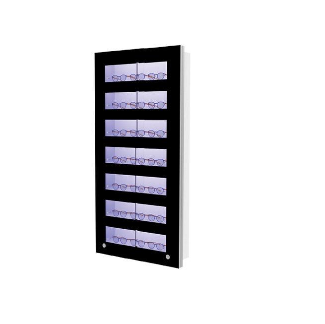 Présentoir WVS avec 7 étagères lockable, 21 montures
