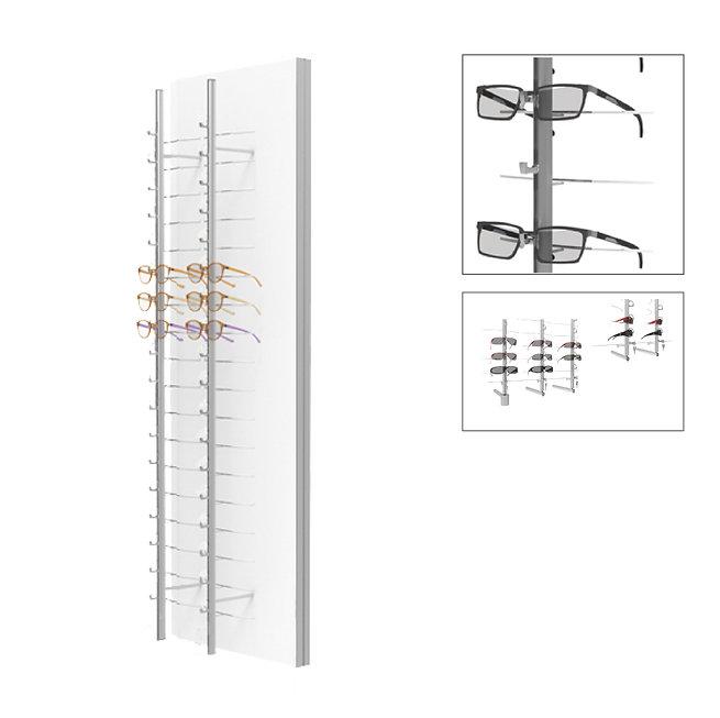 Présentoirs WP standards avec 2 colonnes ouvertes et tournantes RR.MC.18