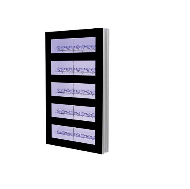Présentoir WCL2 avec 5 ouvertures et 5 barres lockable, 20 montures
