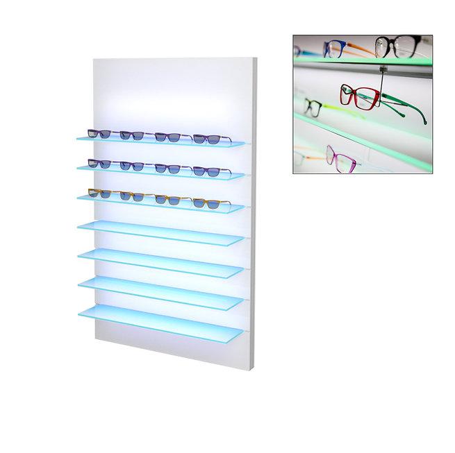 Présentoir WSBG avec 7 étagères en acrylique, 35 montures.
