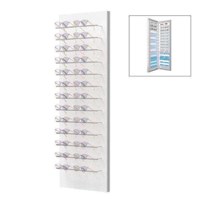 Présentoirs WH avec 13 colonnes 26 montures avec stockage 2 à l'arrière.