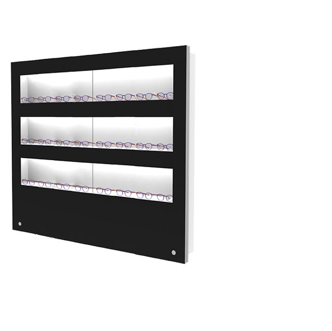 Présentoir WVS avec 3 étagères lockable, 24 montures