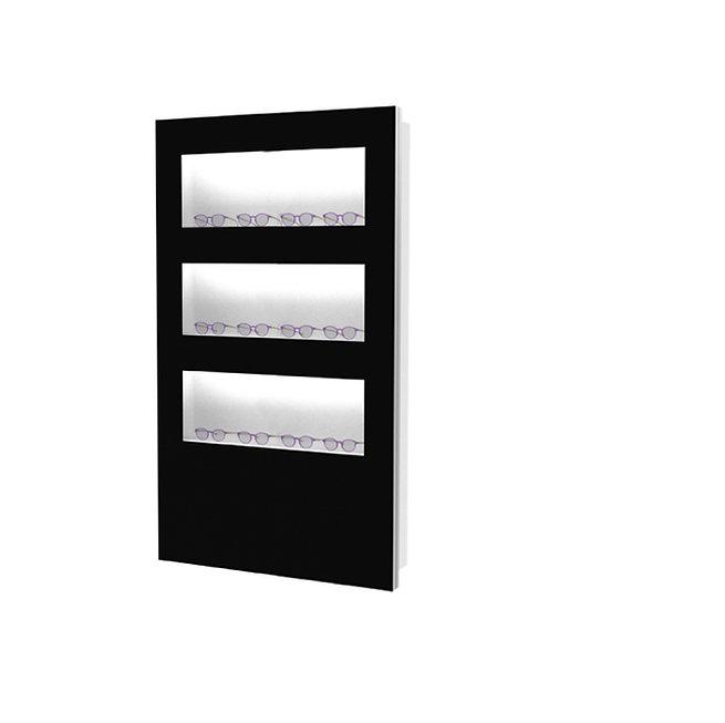 Présentoir WVS avec 3 étagères open, 12 montures