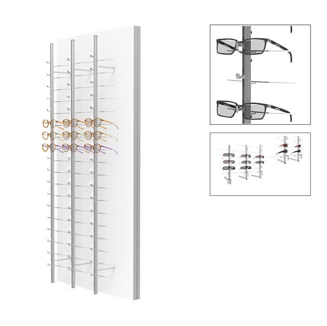 Présentoirs WP standards avec 3 colonnes ouvertes et tournantes RR.MC.18