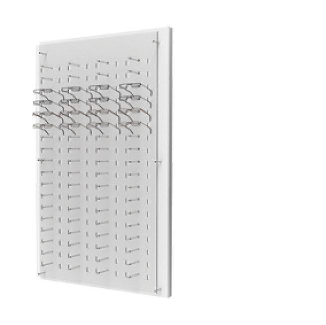 Présentoirs WP avec un plaque en acrylique transparente de 72 montures