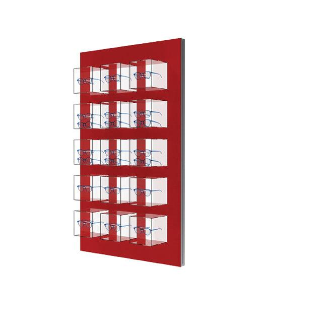 Présentoir standard WLB 15 cube LED avec 15 supports de montures