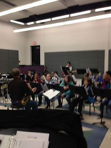 118 Jazz Ensemble clinics at Millikin University