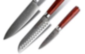 Japanese Damascus Kitchen Knives
