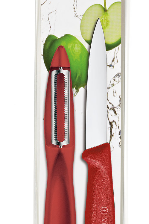 Victorinox Swiss Classic Serrated Peeler/Paring Combo Pack RED