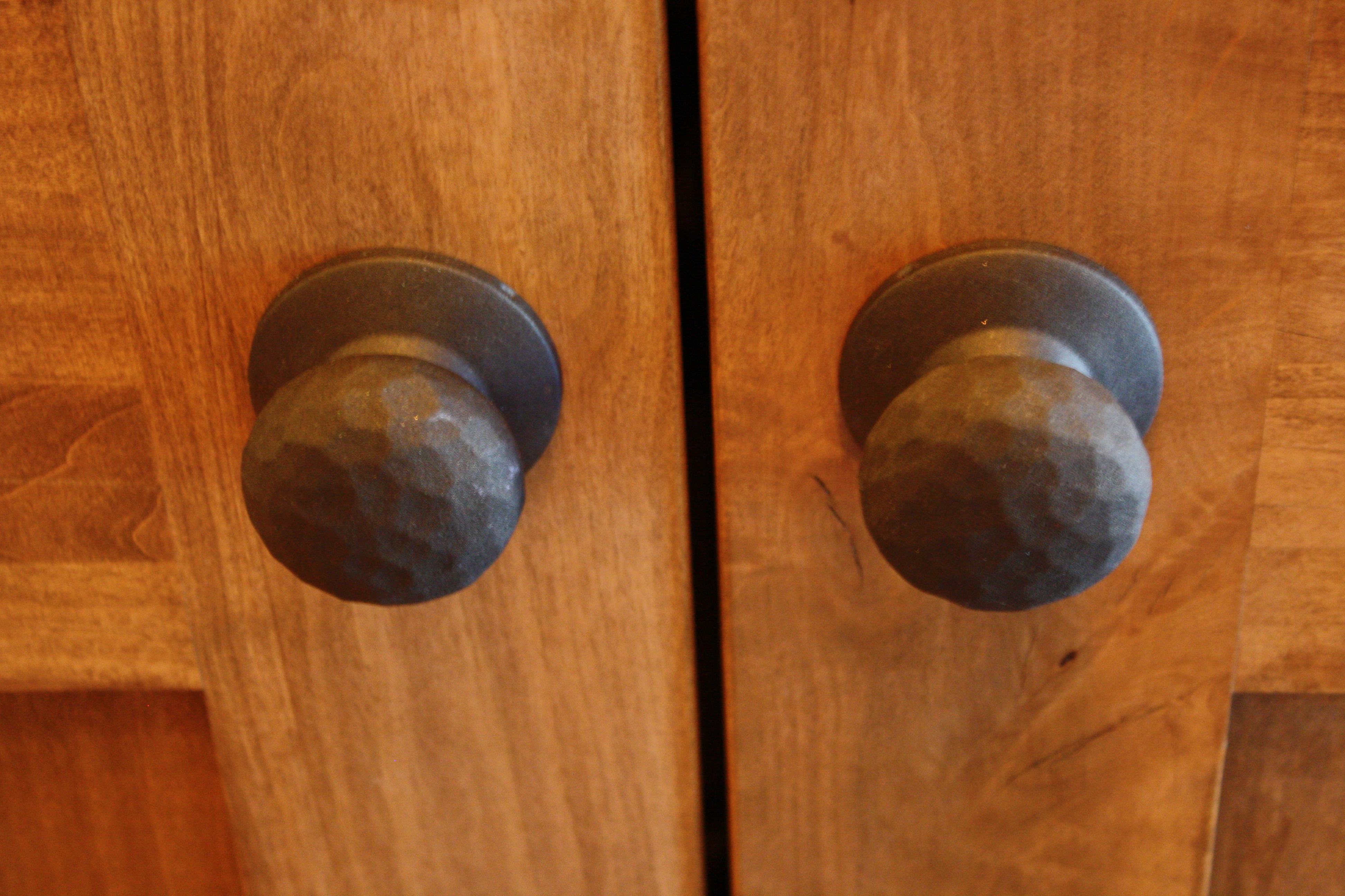 Hand Hammered Door Knobs