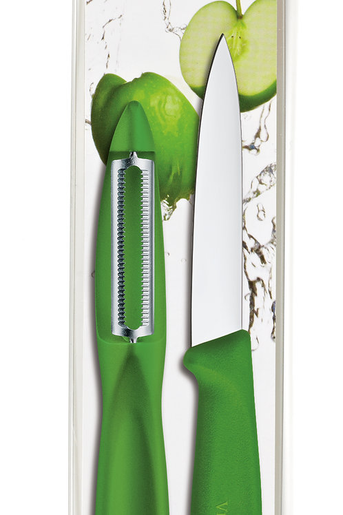 Victorinox Swiss Classic Serrated Peeler/Paring Combo Pack GREEN