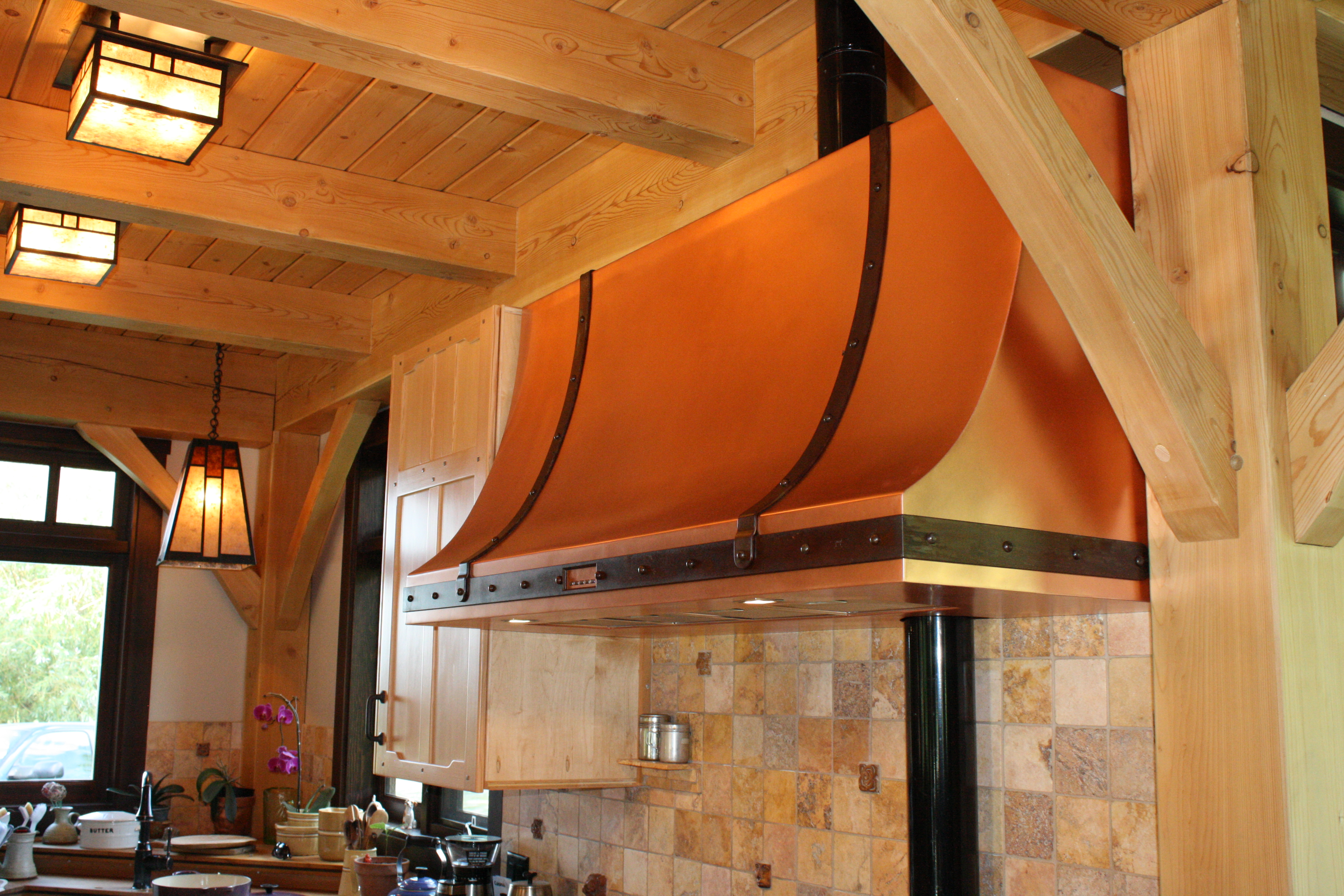 Hand-made Copper Range Hood