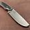 Thumbnail: 80CRV2 Black/White/Orange G10 Custom Knife