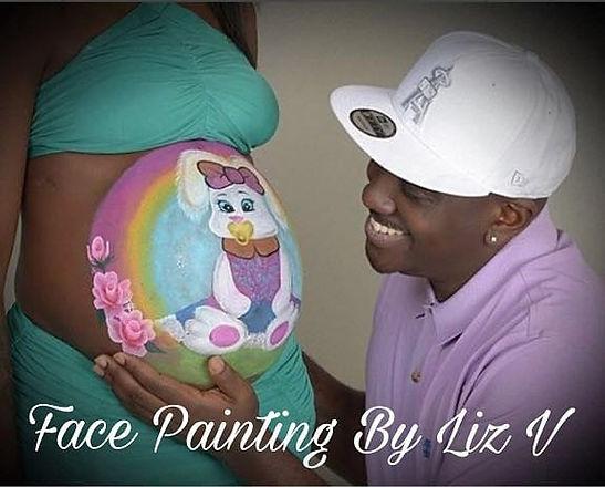 Easter Theme Maternity Belly Art ._._._._.jpg