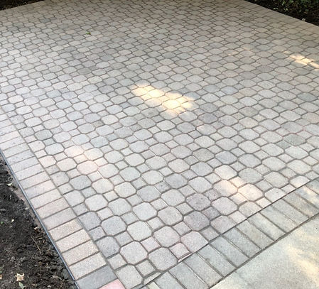 Interlocking patio paver bricks