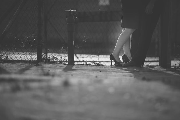 abstract black and white couples