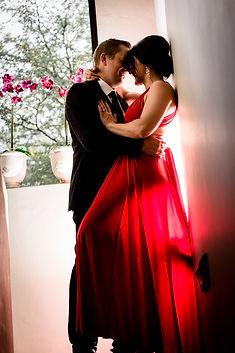 ROMANTIC COUPLE'S SHOOT RED DRESS