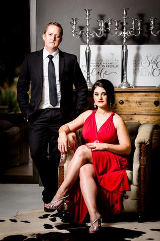 glamour couple shoot