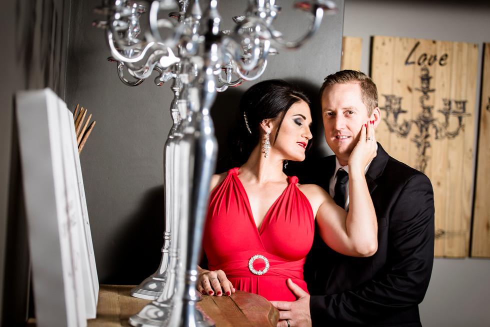 Romantic couple glamour shoot