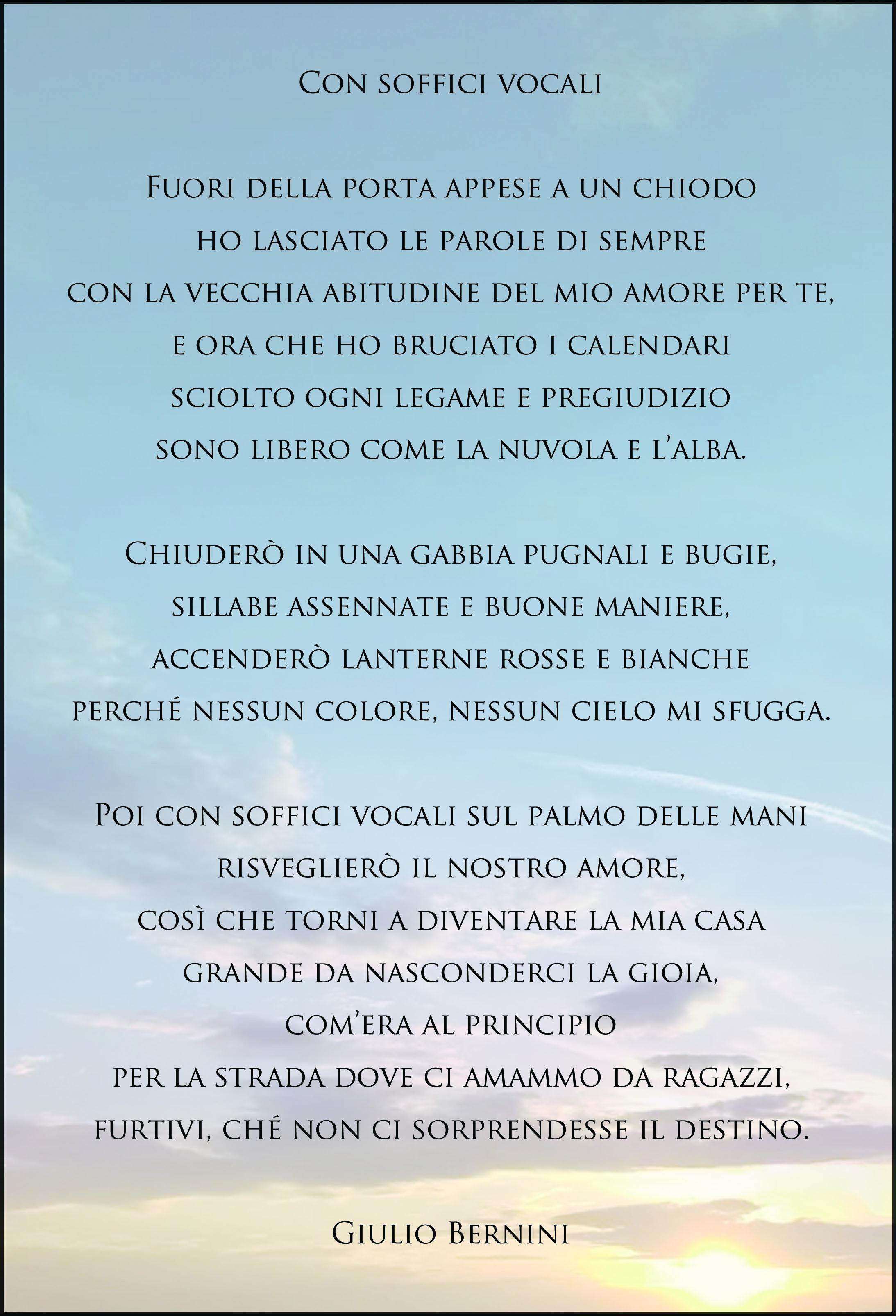 Bernini poesia