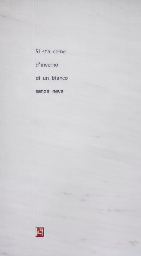 Gloria Bertolone, Si sta come d'inverno.