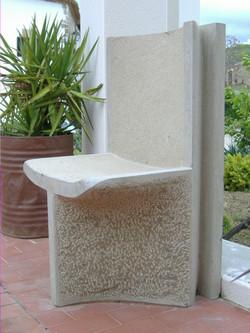 Stone chair...
