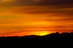 Sun rising in Maricopa