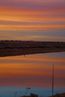 Sunrise reflecting