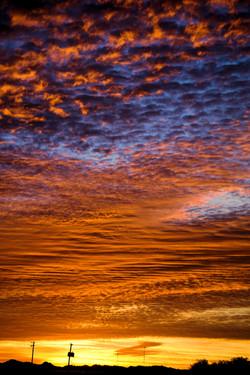 Colorful sunrise in Maricopa