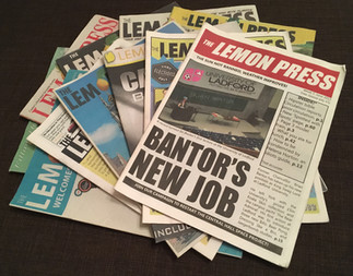 The Lemon Press issues 6-16 (top cover by Sophie Gadd)