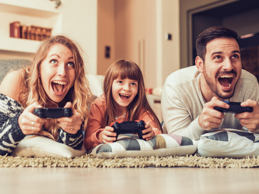 PARENTS PLAYING FIVE EXTRA HOURS OF VIDEO GAMES WITH KIDS